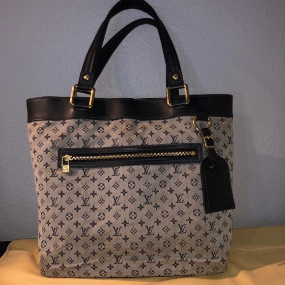 Louis Vuitton Handbags - Louis Vuitton Blue Monogram mini Lucille GM